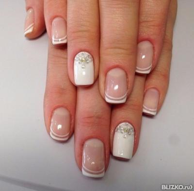 картинки наращивание ногтей френч