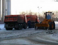 Уборка снега автомобилем